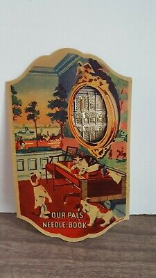 VINTAGE SEWING NEEDLE BOOK Germany Our Pals Complete 49 Swedish Needles Madison