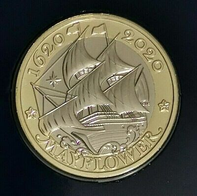 2020 two pound £2 Coin MAYFLOWER BUNC Direct from the Mint  SCARCE