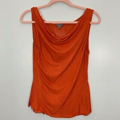 ANN TAYLOR | Red Orange Scoop Neck Workwear Cami Tank Top Women's Medium