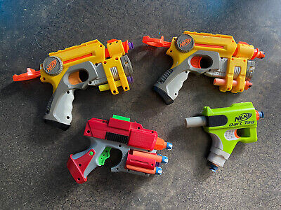 NERF Dart Blasters. Set of 4. Good Condition