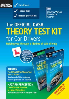 The official DVSA theory test KIT for car drivers pack, Driver and Vehicle Stand