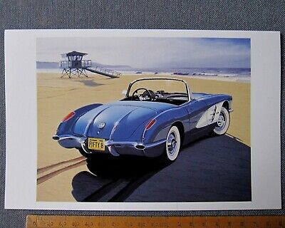 carte Chevrolet CORVETTE 1958 card by Harold Cleworth