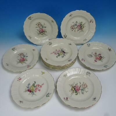 Royal Copenhagen Frijsenborg Floral 910 - 11 Dinner Plates - 10 inches