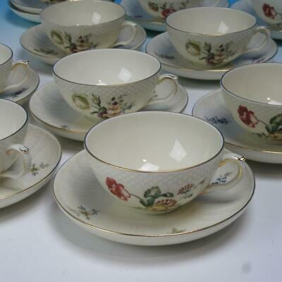 Royal Copenhagen Frijsenborg Floral 910 - 10 Cups and 11 Saucers