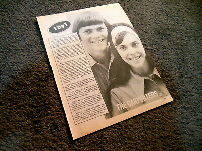 THE CARPENTERS Vintage 1970's Magazine Clipping