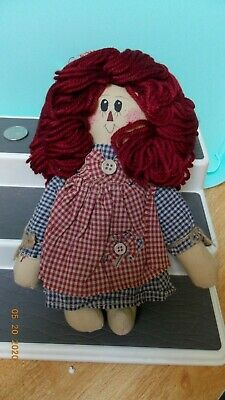 Candice Paige Rag Doll Pattern Country 18 inch Tall Homespun Friends 107 c2271