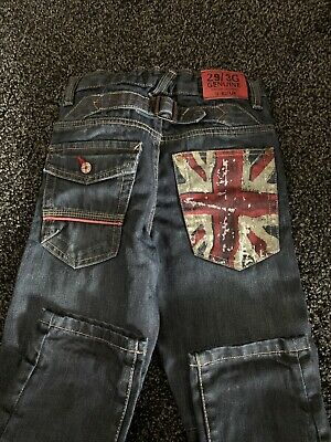 Boys Next Denim Union Jack Jeans Aged 7 Years