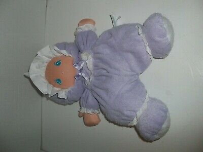 Vtg puff Little Darlin/'s Well Made Pink Terry Cloth Doll Soft Stitched Sewn Face