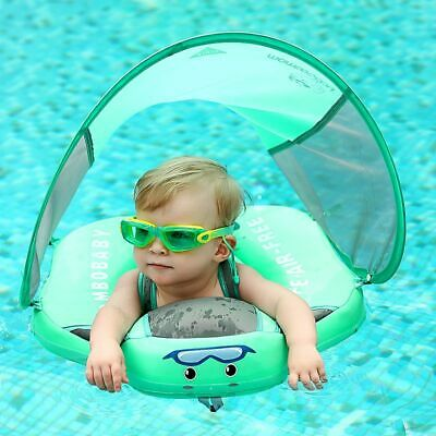 Solid Non-Inflatable Baby Swimming Ring Float Lying Swimming Pool Toys Sunshade