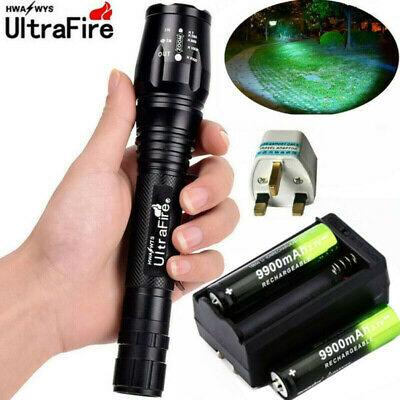 900000LM LED T6 Rechargeable Super Bright Torch Flashlight Lamp Light+Charger ·
