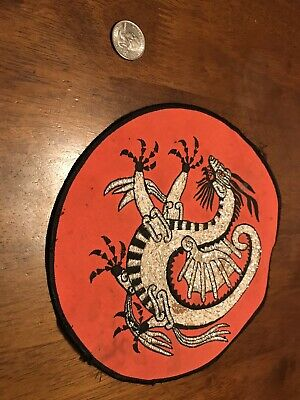 Rare VINTAGE  Kung Fu EMBROIDERED DRAGON  PATCHE