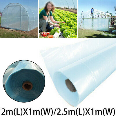 2mx6m Clear Polythene Greenhouse Plant Cover Horticultural membrane Foil
