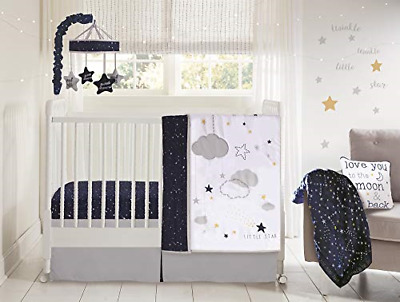 Elephant Crib Bedding from The Sawyer Collection in Grey and Turquoise Wendy Bellissimo 4pc Nursery Bedding Baby Crib Bedding Set