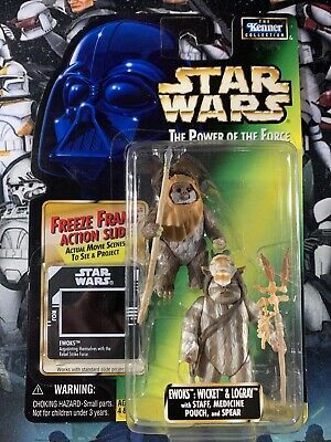 Wicket /& Logray Autographed Star Wars The Power Of The Force Ewoks
