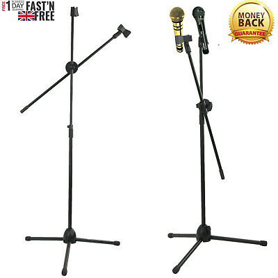 Professional Boom Microphone Mic Stand Holder Adjustable With Free Clips New Kk