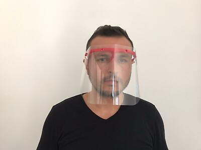Safety Full Face Shield Clear Flip-Up Visor Transparent Medical Dental Glass