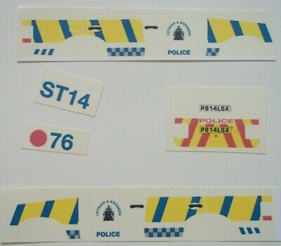 clear waterslide decals No 92 Land Rover Discovery Police Livery CODE 3