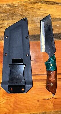 Survival Combat Tactical Hunting Knife W/ Sheath Tanto Fixed Blade