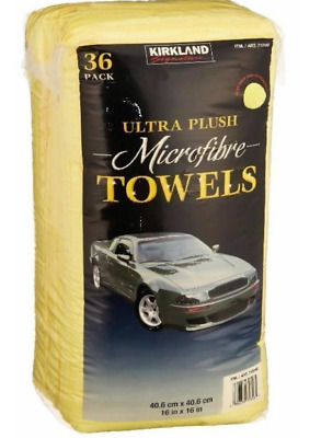 Kirkland Signature 40cm Ultra Plush Microfibre Towels Soft Car Cloth Pack of 36
