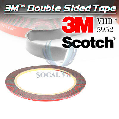 Genuine 3M VHB #5952 Double-Sided Mounting Foam Tape Automotive Car 2mmx35FT