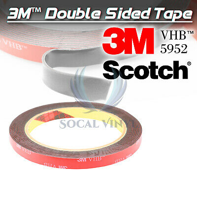 Genuine 3M VHB #5952 Double-Sided Mounting Foam Tape Automotive Car 10mmx35FT