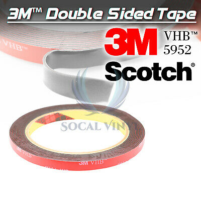 Genuine 3M VHB #5952 Double-Sided Mounting Foam Tape Automotive Car 8mmx35FT