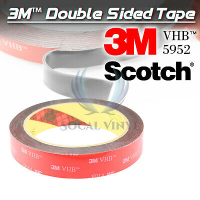 Genuine 3M VHB #5952 Double-Sided Mounting Foam Tape Automotive Car 20mmx35FT