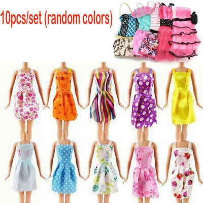 10pcs Dresses for Barbie Doll Fashion Party Girl Dresses Clothes Gown Toy Gift
