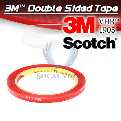 Genuine 3M VHB #4905 Double-Sided Mounting Foam Tape Automotive Car 6mmx35FT