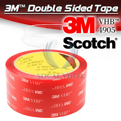 Genuine 3M VHB #4905 Double-Sided Mounting Foam Tape Automotive Car 50mmx35FT
