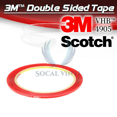 Genuine 3M VHB #4905 Double-Sided Mounting Foam Tape Automotive Car 2mmx35FT