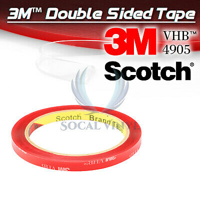 Genuine 3M VHB #4905 Double-Sided Mounting Foam Tape Automotive Car 8mmx35FT