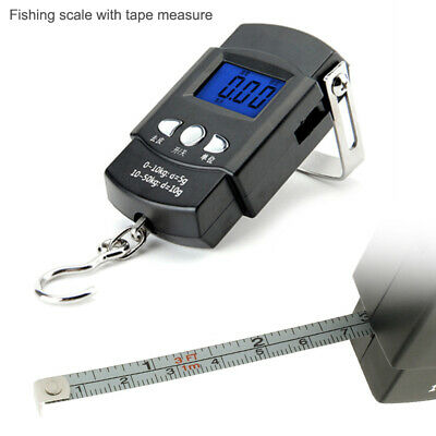 Portable Digital Luggage Hanging Hook Electronic Weighing Fishing Scale 50kg new