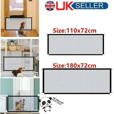 ✅Retractable Pet Dog Gate Safety Guard Folding Baby Stair Gate Isolation UK✅