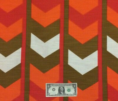 Unused Vintage 1960/'s 1970/'s BOLD RETRO GEOMETRIC Space Age Groovy Fabric BTY