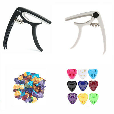 Guitar Capo For Guitars & Banjo Acoustic Electric Classical Trigger Clamps UK