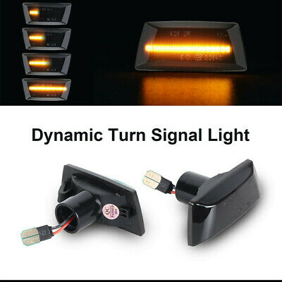 2x Dynamic Side Indicator LED Repeater Light Fit For Adam Astra H GTC VXR Corsa
