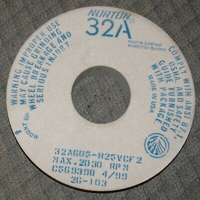 16 X 3 X 5 Type 1 Surface/Cylindrical Grinding Wheel 32A605H25Vcf2  (W2-R1-2)