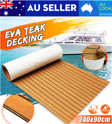 2400X900X6MM EVA Foam Boat Marine Yacht Floor Mat Faux Teak Decking Sheet Mat