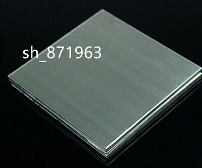 1pcs 304 Stainless Steel Fine Polished Plate Sheet 0.5mm x 100mm x 100mm #E6A1
