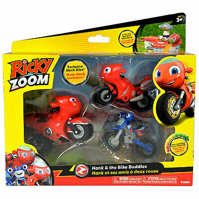 Ricky Zoom Speed /& Stunt Playset 3 Stages of Play Ricky w Accessories Ages 3+
