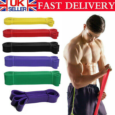 Strong Resistance Bands Loop Heavy Duty Exercise Sport Fitness Gym Yoga Latex kR