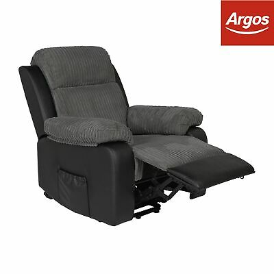 ARGOS HOME BRADLEY Fabric Manual Recliner Chair Charcoal