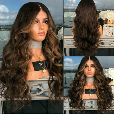 """28""""  Womens Ladies Wig Long Curly Wavy Wig Hair Cosplay Party Wigs UK Fashion"""