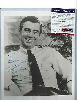 Mister Fred Rogers Signed Autographed 3x5 Card Jsa Mr Rogers Neighborhood 149 99 Picclick