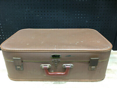 Vintage A.g Blackwell Five Forty Brown Suitcase Retro Luggage