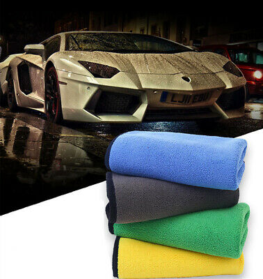3PCS New Detailing Cleaning Car Soft Cloths Large Microfibre Ultra Absorbent UK