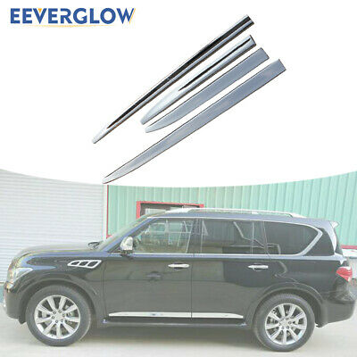Door Side Sill Trim Plate fit for INFINITI QX56 2011-2013 QX80 2014-2021 Decorator ABS