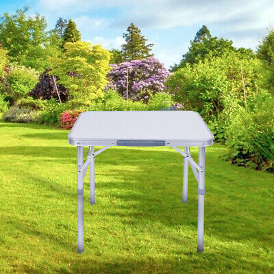 UK Portable Adjustable Aluminum Alloy Folding Table Camping Outdoor Picnic BBQ