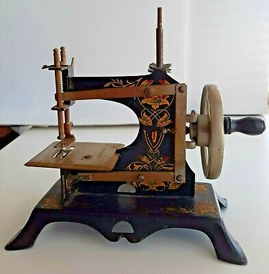 Toy Sewing Machine * Vintage Hand Cranked * Marked Made in Germany *